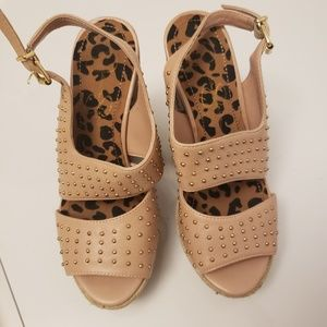 Jessica Simpson patterned wedge sandals